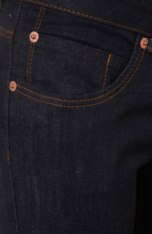 Alternate Image 3  - Topshop Moto 'Baxter' Skinny Jeans (Indigo) (Petite)