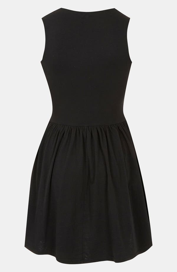 Alternate Image 2  - Topshop Panther Face Skater Dress (Petite)