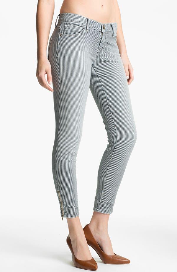 Alternate Image 1 Selected - Current/Elliott 'The Quartermaster' Stripe Skinny Jeans