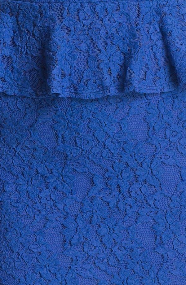 Alternate Image 3  - Fire Peplum Lace Body-Con Dress (Juniors)