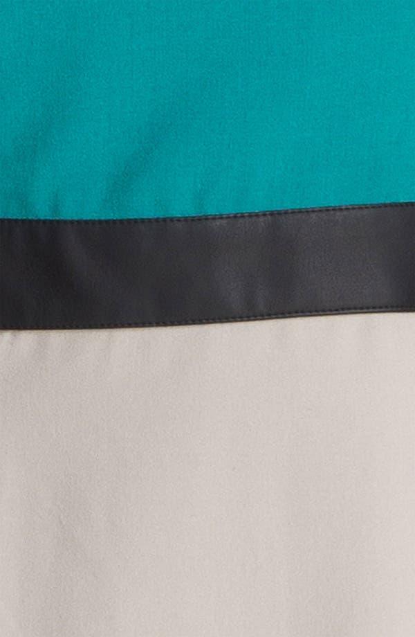 Alternate Image 3  - Kensie Faux Leather Trim Colorblock Dress