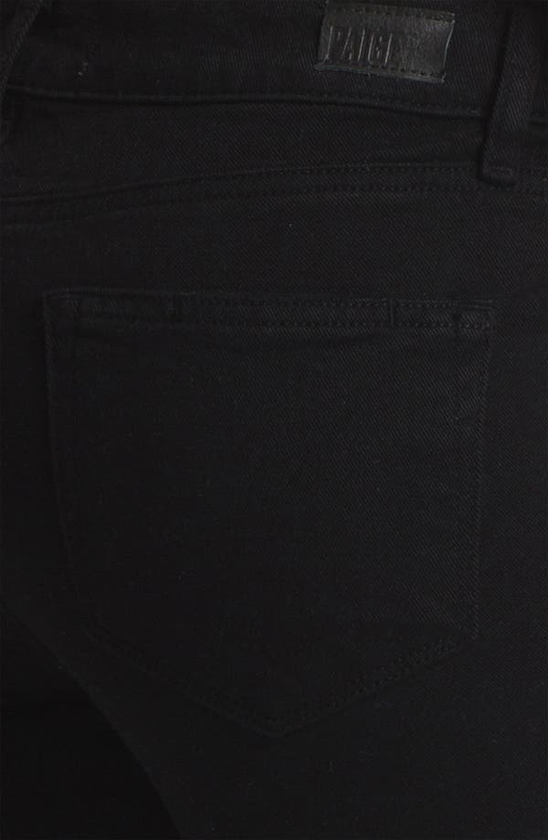 Alternate Image 3  - Paige Denim 'Verdugo' Stretch Skinny Jeans (Black)