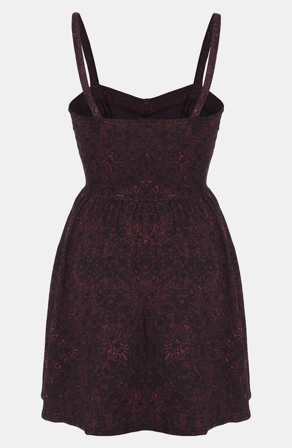 Alternate Image 2  - Topshop Lace Print Bustier Dress