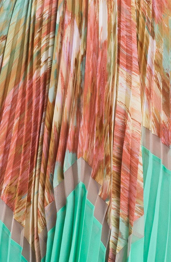 Alternate Image 3  - BCBGMAXAZRIA Pleated Print Dress