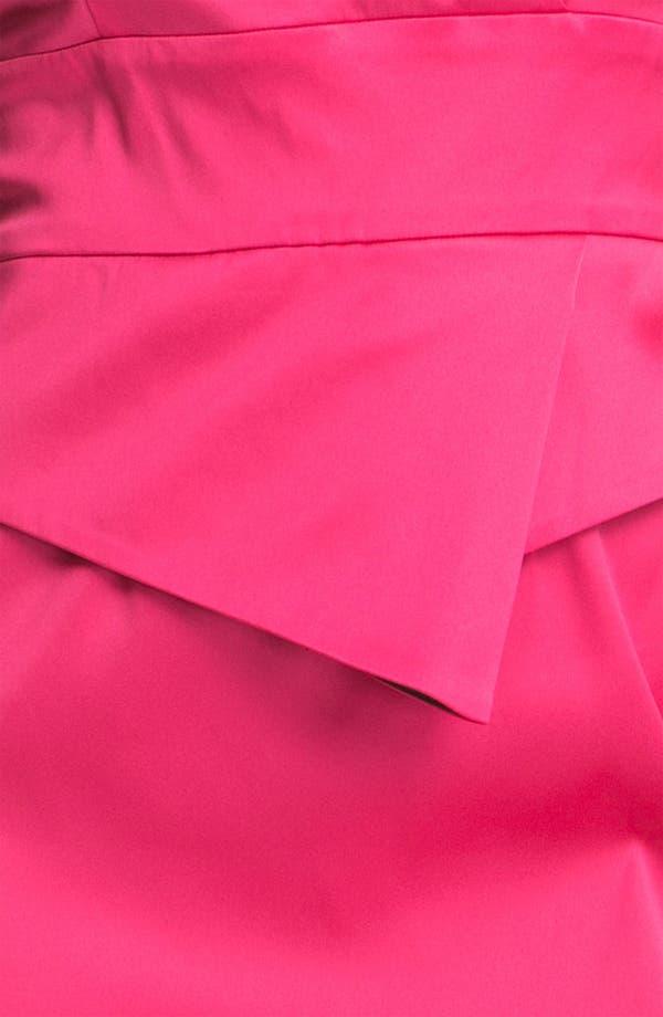 Alternate Image 3  - Donna Ricco Satin Peplum Sheath Dress