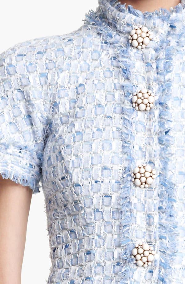 Alternate Image 3  - Oscar de la Renta Tiered Tweed Dress