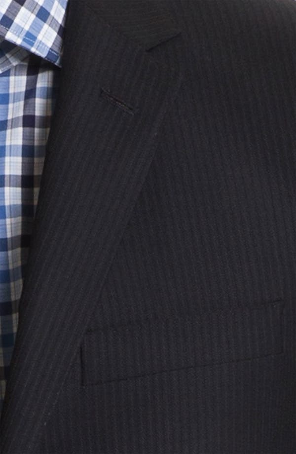 Alternate Image 6  - English Laundry Trim Fit Stripe Suit (Online Only)