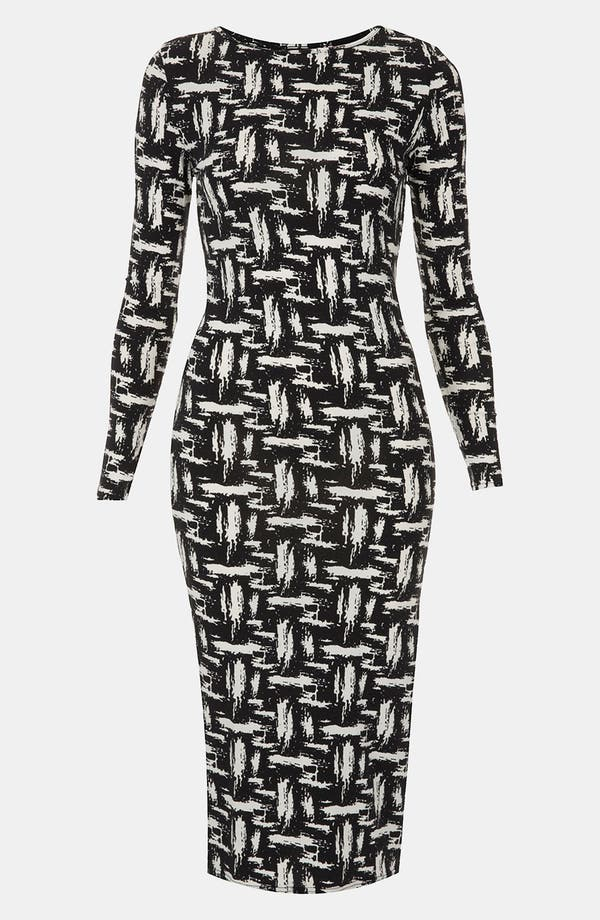 Alternate Image 1 Selected - Topshop Scratch Graffiti Midi Dress