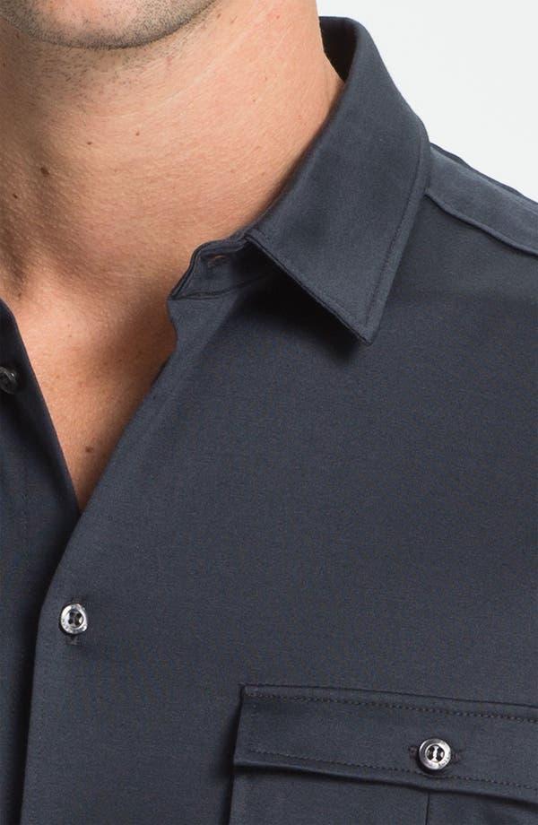 Alternate Image 3  - HUGO 'Danalog' Knit Sport Shirt