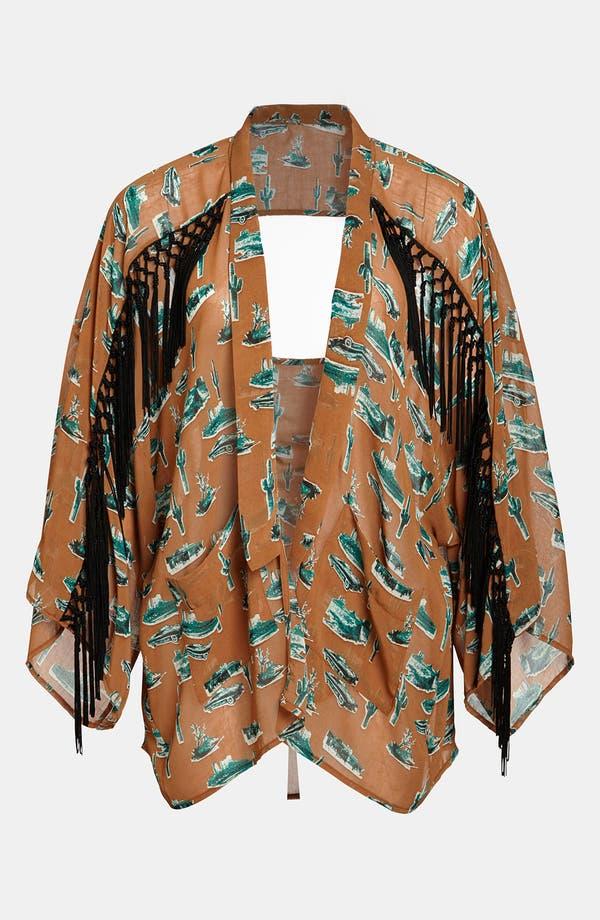 Alternate Image 1 Selected - Viva Vena! Fringed Kimono Jacket