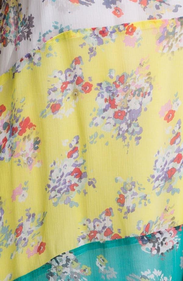 Alternate Image 3  - Ella Moss 'Citrus' Mixed Print Tiered Chiffon Dress