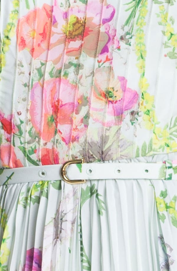 Alternate Image 3  - Ted Baker London 'Wallpaper' Pleated A-Line Dress
