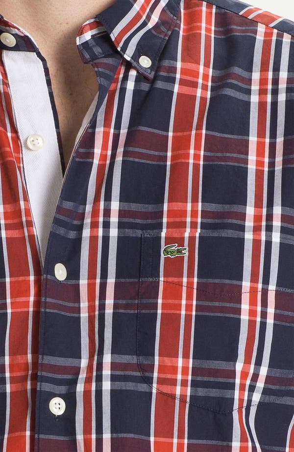 Alternate Image 3  - Lacoste Plaid Woven Shirt