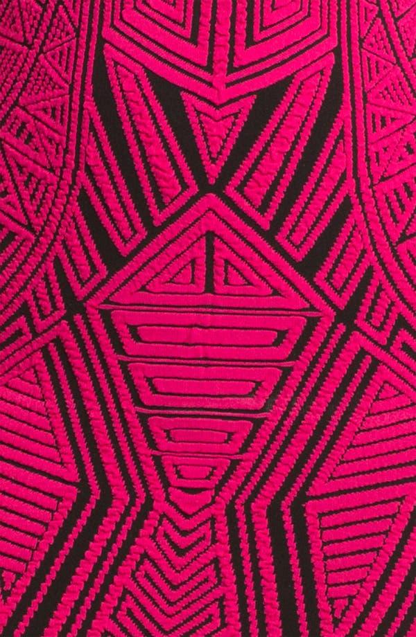 Alternate Image 3  - RVN Sleeveless Aztec Print Jacquard Minidress