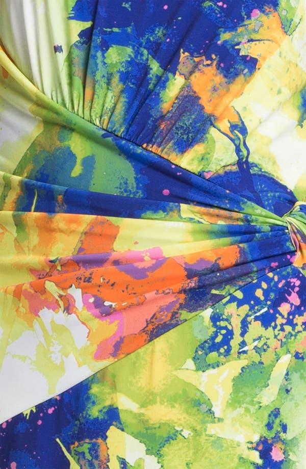 Alternate Image 3  - Suzi Chin for Maggy Boutique Front Twist Print Sheath Dress