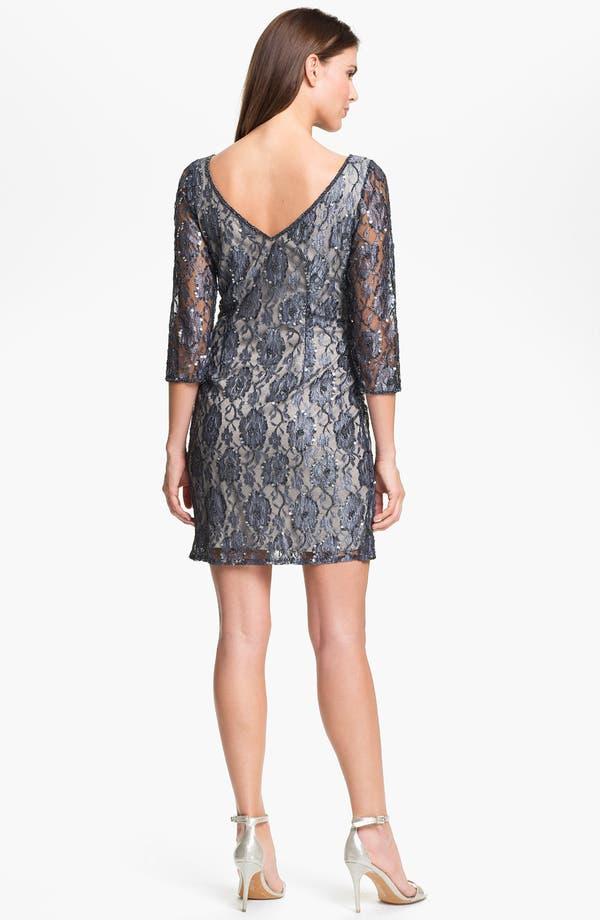 Alternate Image 2  - Pisarro Nights Embellished Lace Sheath Dress