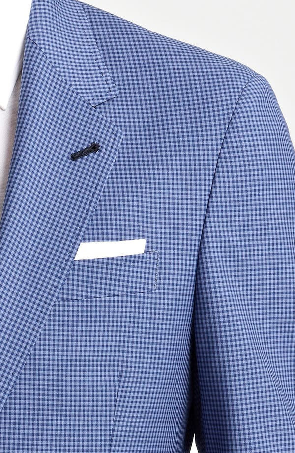 Alternate Image 3  - Paul Smith London Slim Fit Gingham Wool Blazer