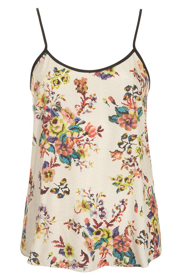 Alternate Image 1 Selected - Topshop Tapestry Print Camisole (Petite)