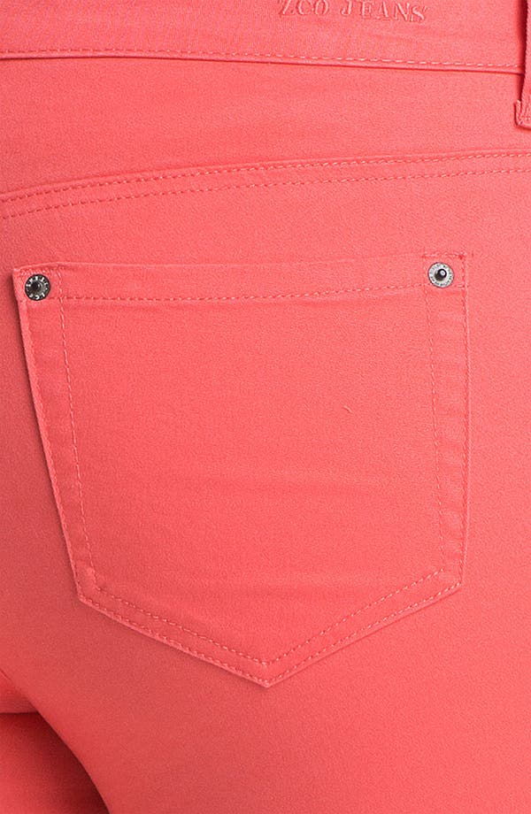 Alternate Image 3  - ZCO Twill Skinny Jeans (Juniors Plus)