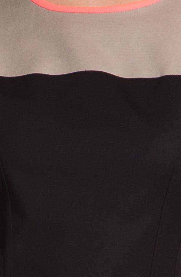 Alternate Image 3  - T Tahari 'Dakota' Colorblock Dress