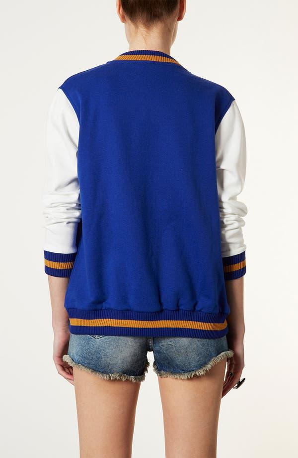 Alternate Image 2  - Topshop Jersey Varsity Jacket