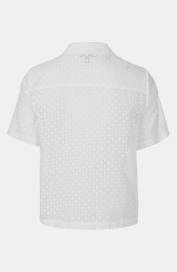 Alternate Image 2  - Topshop Geo Lace Shirt
