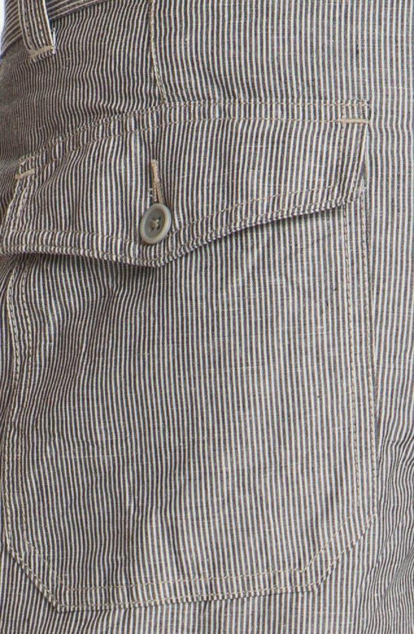 Alternate Image 3  - John Varvatos Star USA Linen Blend Shorts
