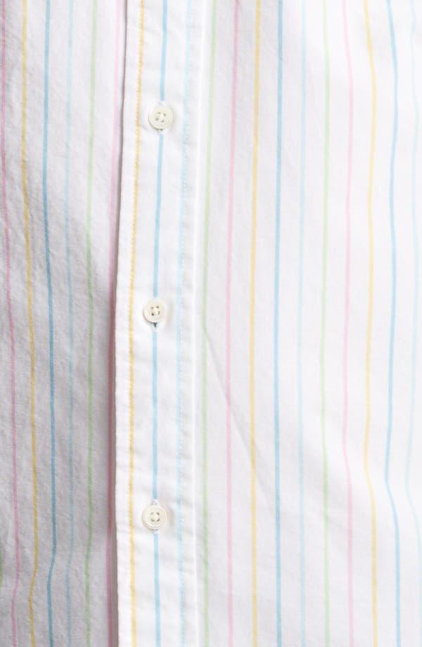 Alternate Image 3  - Jack Spade Rainbow Stripe Oxford Shirt