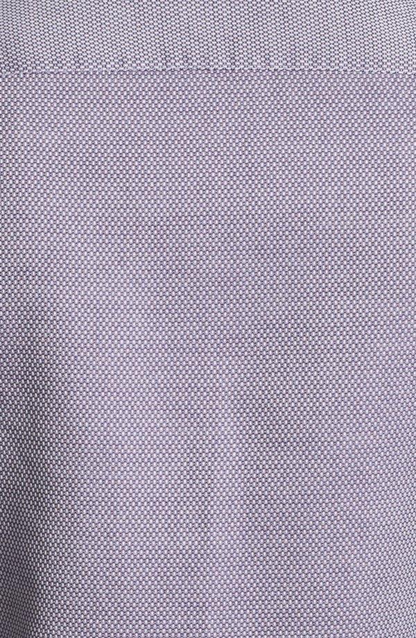Alternate Image 3  - Armani Collezioni Bird's Eye Print Cotton Sport Shirt