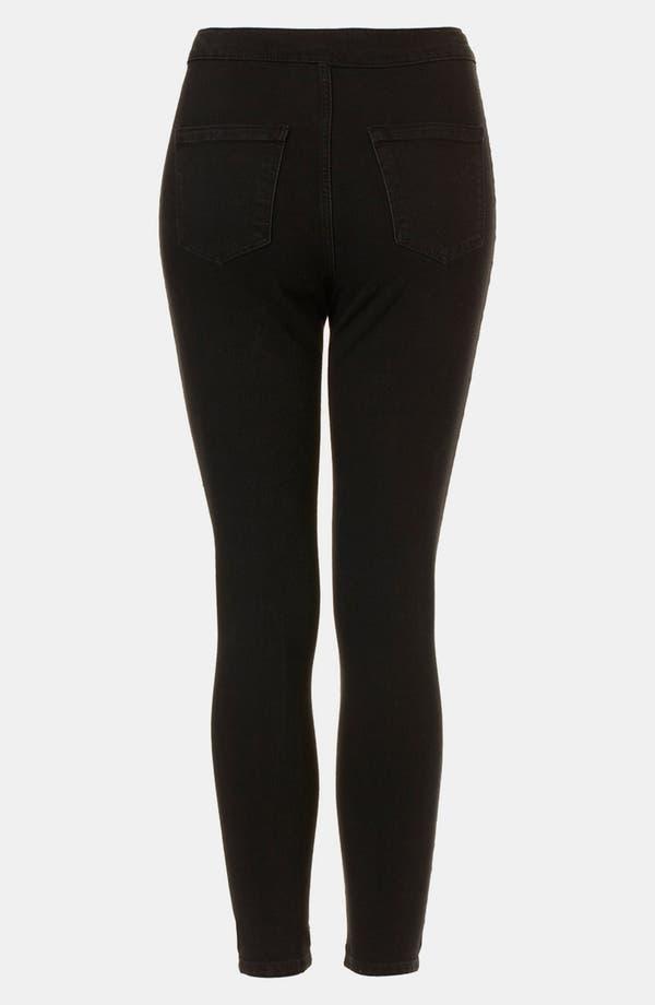 Alternate Image 2  - Topshop 'Black Joni' Skinny Jeans (Petite)