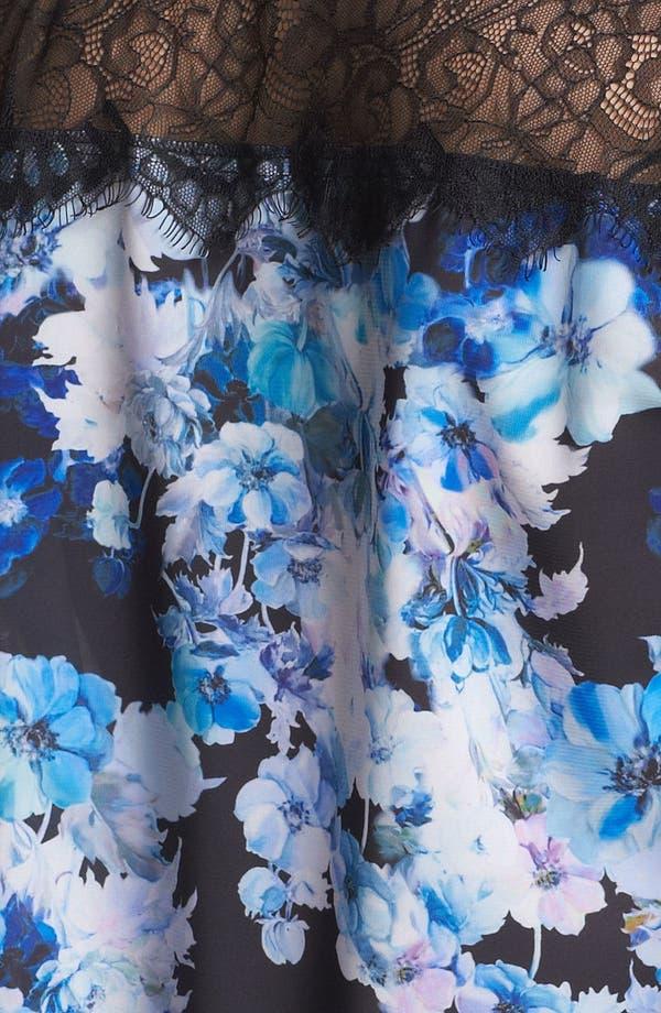 Alternate Image 3  - Robbi & Nikki Floral Print Sleeveless Shirt