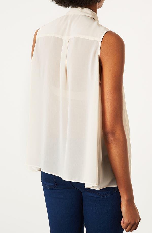 Alternate Image 4  - Topshop Pleated Sleeveless Shirt