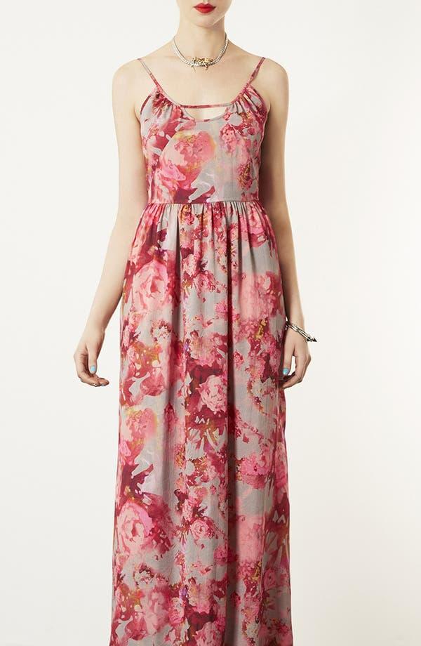 Main Image - Topshop 'Blur' Floral Maxi Dress