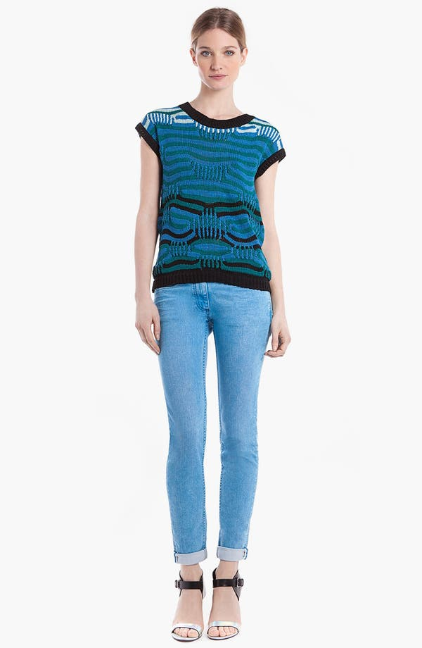 Main Image - sandro 'Soufflé' Mixed Stripe Sweater
