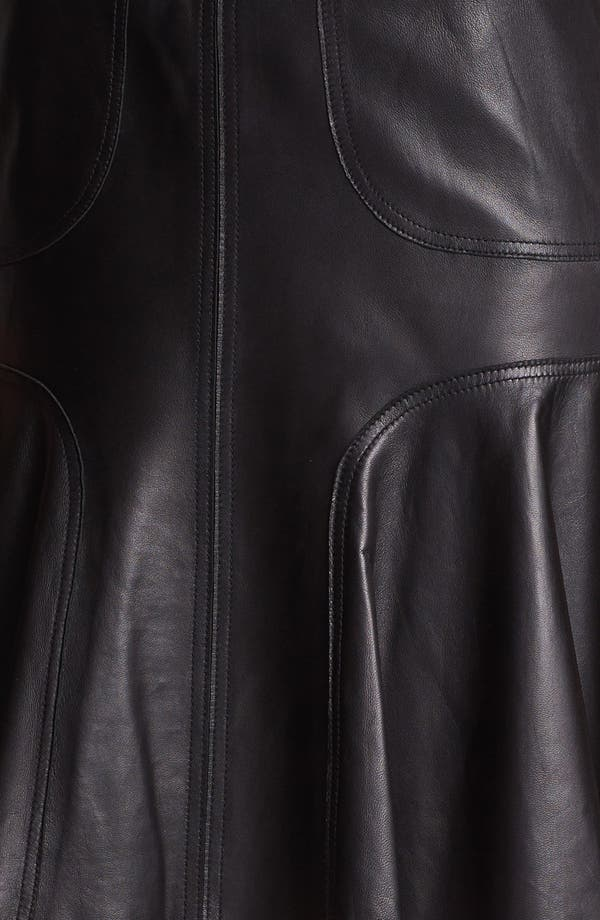 Alternate Image 5  - Halogen® Leather A-Line Skirt