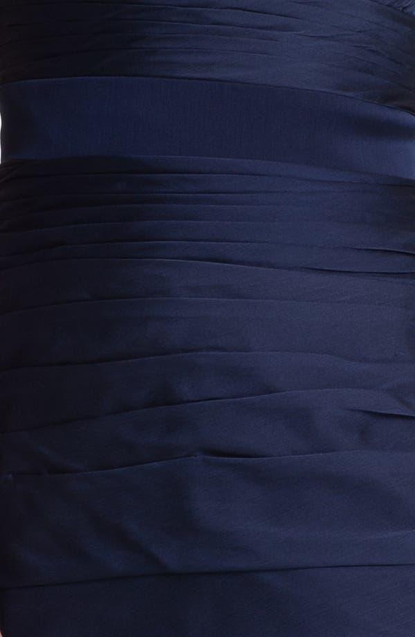 Alternate Image 3  - ML Monique Lhuillier Bridesmaids V-Neck Ruched Chiffon Sheath Dress (Nordstrom Exclusive)