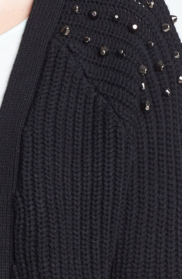 Alternate Image 3  - Love By Design Studded Long Cardigan (Juniors) (Online Only)