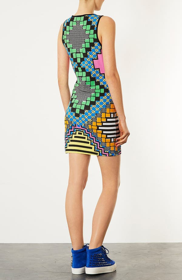 Alternate Image 2  - Topshop 'African Party' Body-Con Dress