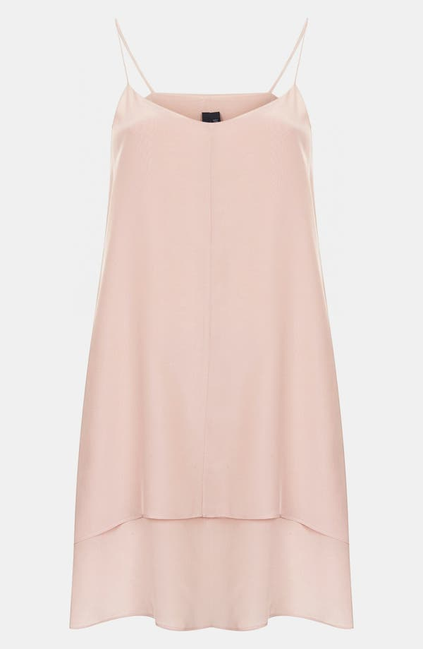 Alternate Image 1 Selected - Topshop Boutique Double Layer Silk Slipdress
