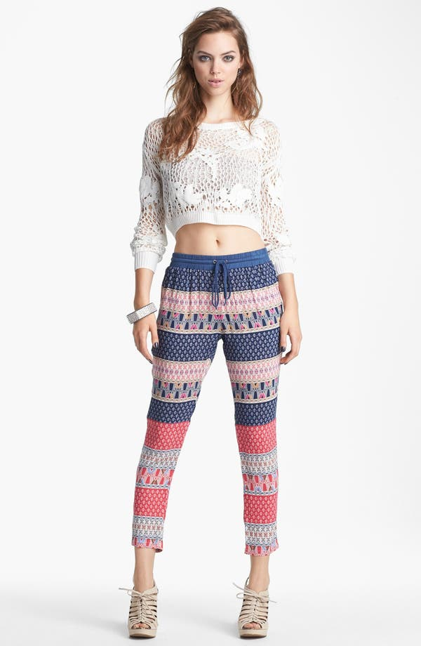 Alternate Image 1 Selected - Leith 'Grunge' Open Crochet Pullover