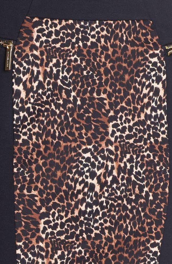 Alternate Image 3  - MICHAEL Michael Kors Colorblock Print Ponte Skirt (Regular & Petite)
