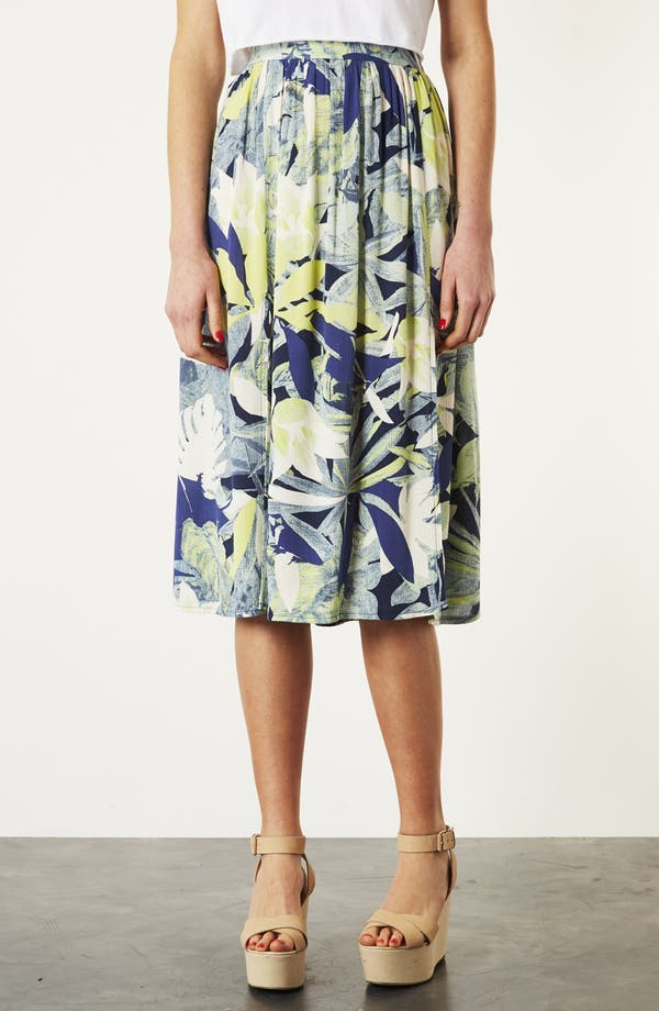 Alternate Image 1 Selected - Topshop 'Crayon Forest' Midi Skirt