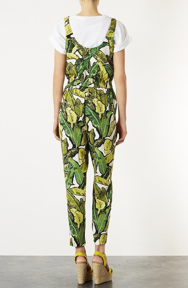 Alternate Image 2  - Topshop Banana Leaf Jumpsuit