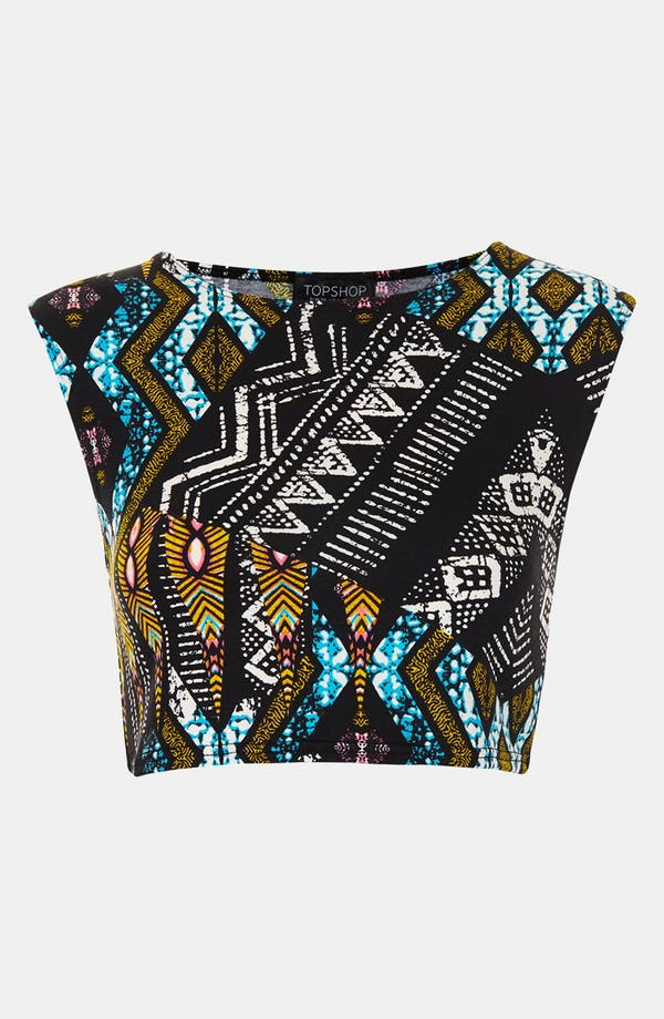Alternate Image 3  - Topshop Aztec Crop Tee