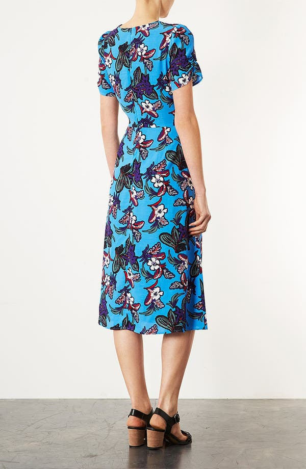 Alternate Image 2  - Topshop Floral Midi Dress