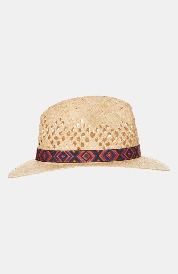 Alternate Image 1 Selected - Topshop 'Aztec Band' Straw Fedora
