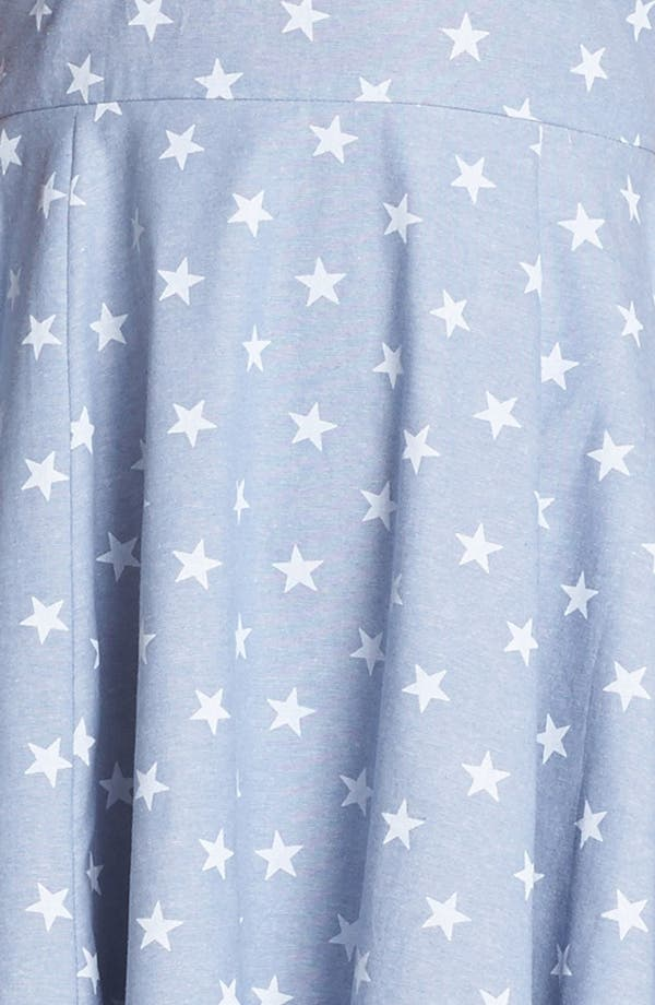 Alternate Image 3  - dee elle Star Print Chambray Fit & Flare Dress (Juniors)