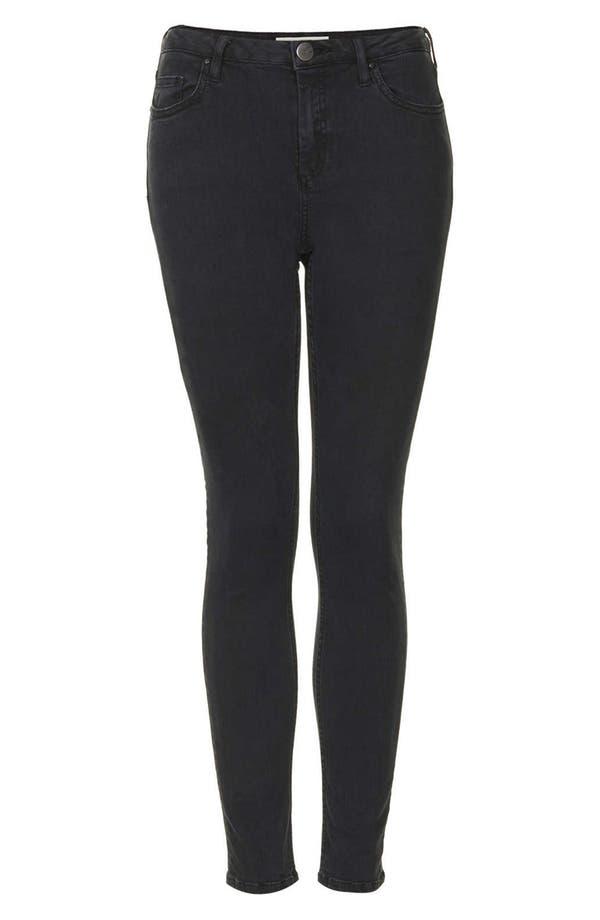 Alternate Image 3  - Topshop Moto 'Jamie' High Rise Skinny Jeans (Black) (Short)