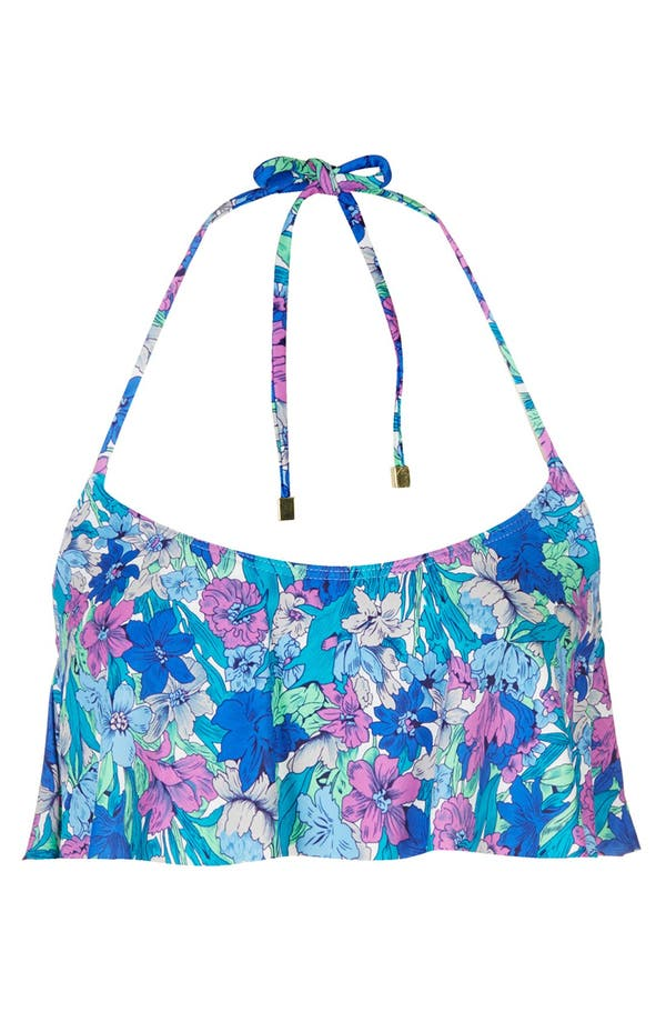 Main Image - Topshop Floral Shelf Bikini Top