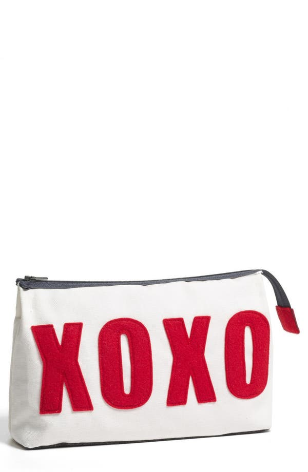 Alternate Image 1 Selected - Alexandra Ferguson 'XOXO' Fabric Cosmetics Pouch